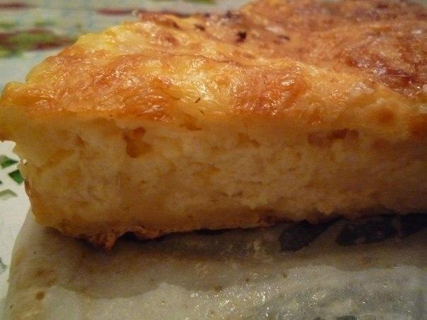 Заливной пирог с сыром сулугуни