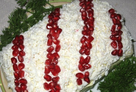 Салат «Гранатовые бусы»