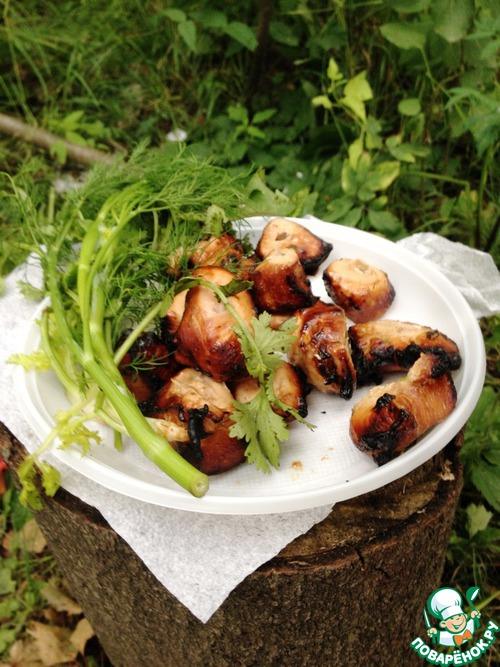 Куриный шашлык в японском маринаде