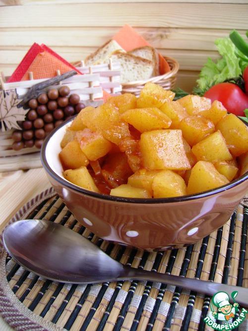 Постный картофельный паприкаш