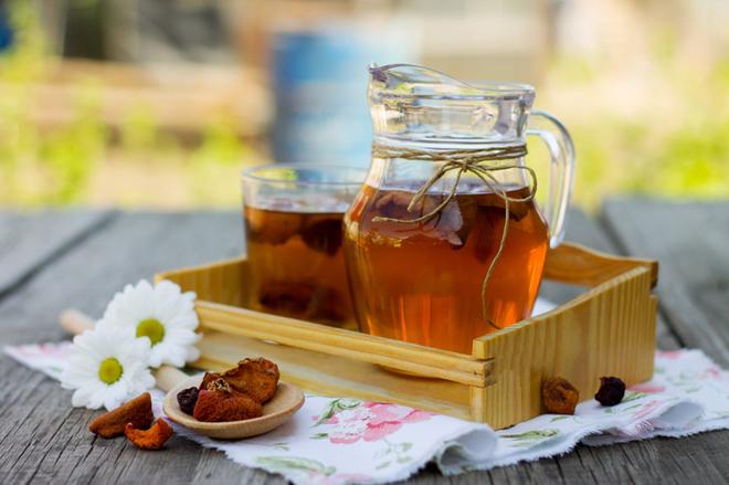 Березовый сок с сухофруктами