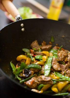 Cковорода вок: зачем она нам нужна? Вок из говядины с молодыми овощами: рецепт