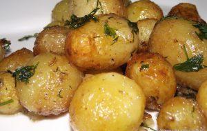 Молодой картофель в горшке «Пикантный»