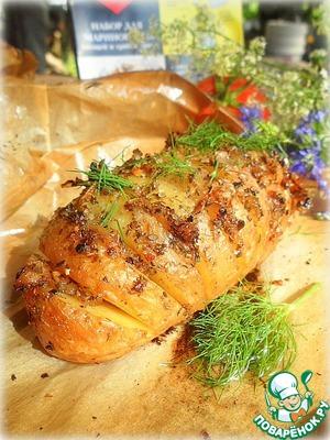 Картофель запеченный с салом на пикник