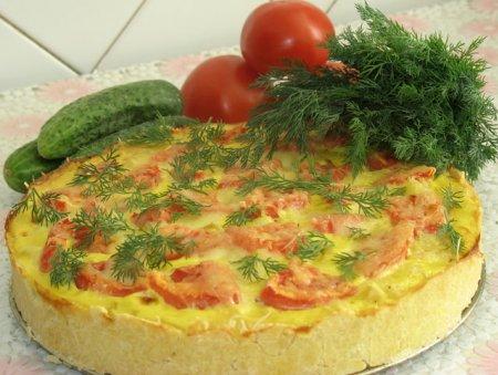 Овощной пирог с курицей «Летняя поляна»