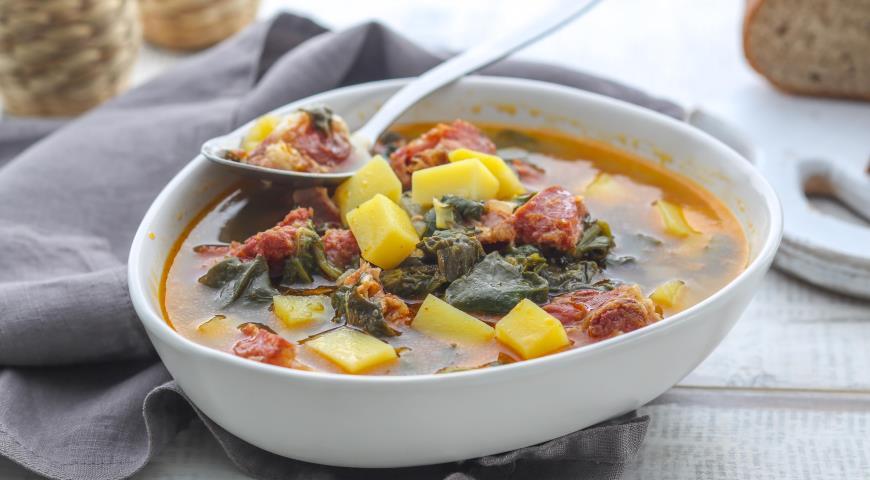 Хорватский суп с молодой зеленью