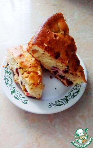 Вкусный и простой пирог с ягодой (вишней)