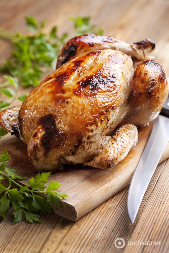 Цыпленок в пряных травах