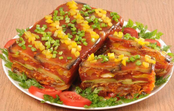 Овощной террин с томатным желе