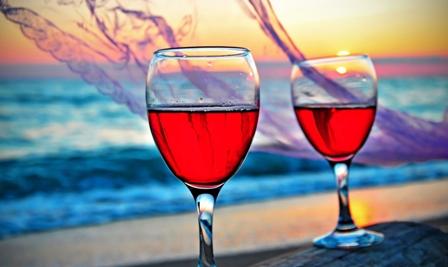 Арбуз с ванилью и белым вином