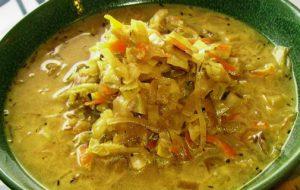 Суп с перловкой и квашеной капустой