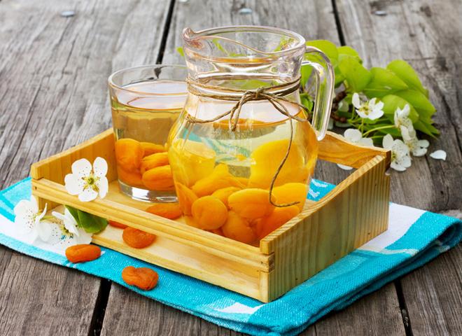 Компот из абрикосов с цитрусовым ароматом