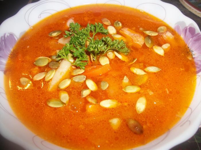 Гороховый суп с тыквой