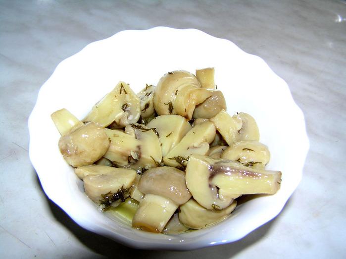 Маринованные шампиньоны, рецепт