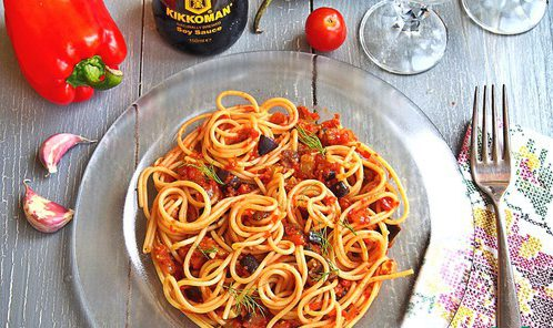 Соус «Рататуй» со спагетти