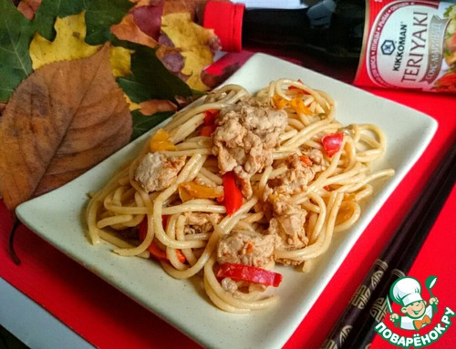 Супер-спагетти с куриным фаршем