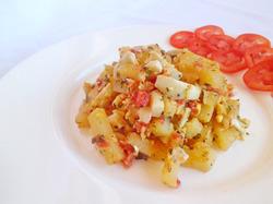 Вкуснейшая жареная картошка с ароматной заправкой