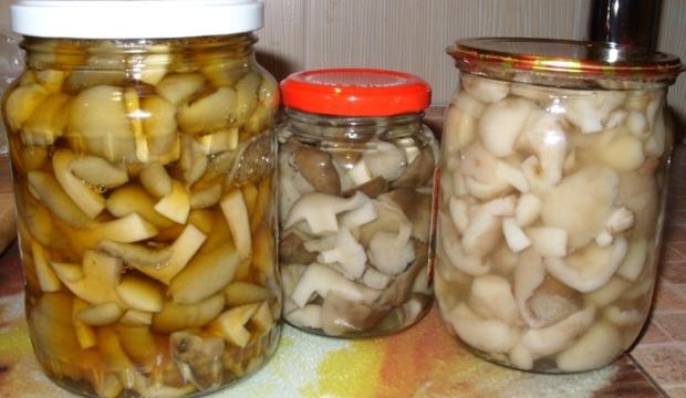 Консервы из маринованных грибов
