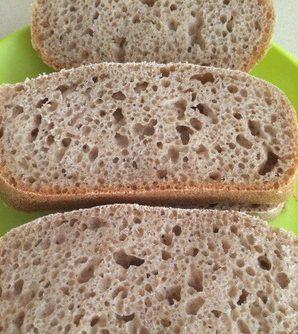 Цельнозерновой хлеб на закваске (для х/п)