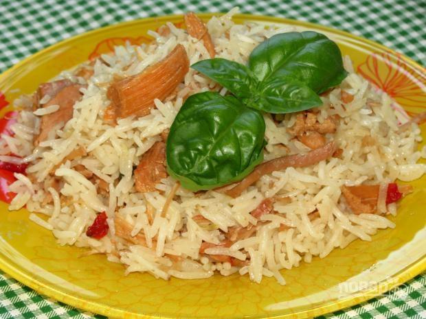 Рисовая каша с тушенкой