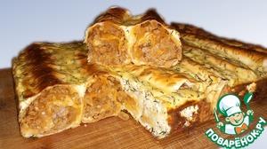 Быстрый мясной пирог из лаваша