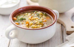 Суп гороховый на мясном бульоне