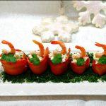 "Морковная закуска с креветками ""Зимняя сказка"""