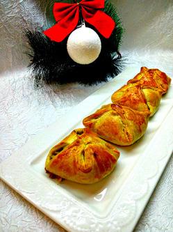 Слоеные пирожки с яйцом
