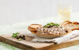 Яичный паштет с сардинами