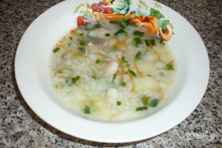 Суп из филе трески
