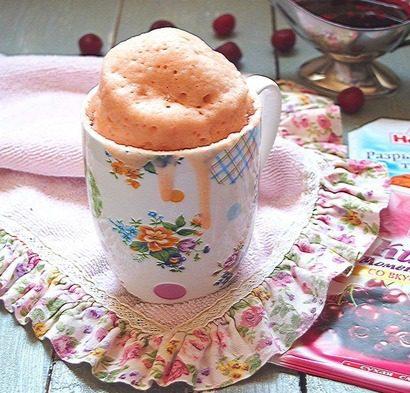 Кисельный кекс в кружке «Вишневый»
