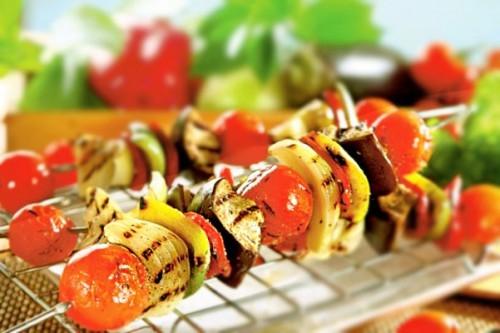 Овощной шашлык — «вкусный парадокс»