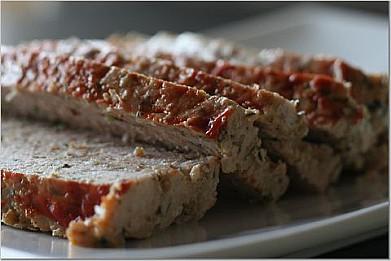 Мясной хлебец с гречневой кашей и шампиньонами