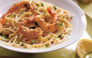 Спагетти с морепродуктами