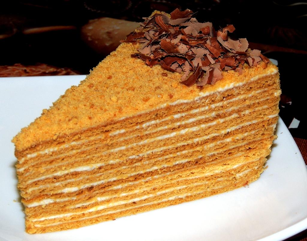 Торт медовик домашнее приготовление