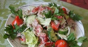 Салат из свежих овощей «Глехурад»