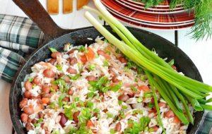 Быстрое рагу с рисом и фасолью