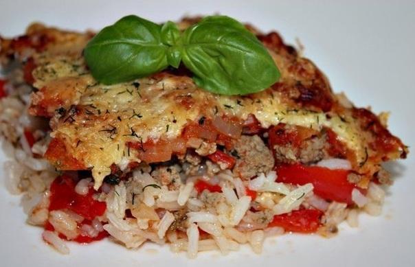 Рисовая запеканка «Вкусный ужин»