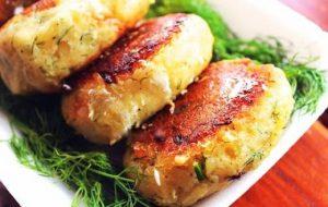Зразы с филе лосося и грибами