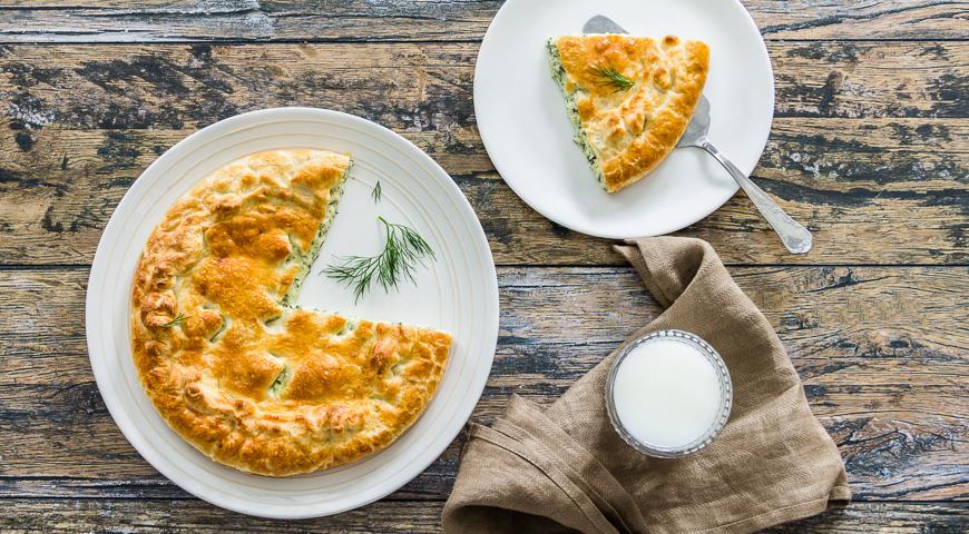 Пирог с укропом и сыром