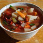 Овощной суп с красной фасолью