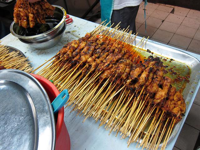 Куриный шашлык в тайском маринаде