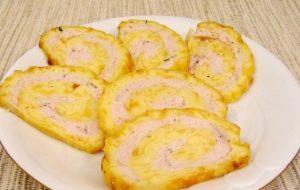 Рулет из яиц «Нежный» с куриным мясом