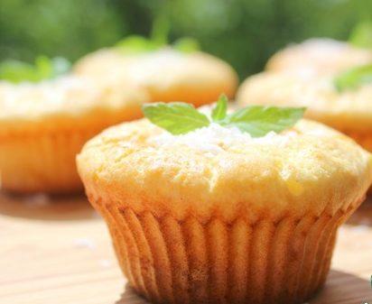 Творожные кексы с миндалем
