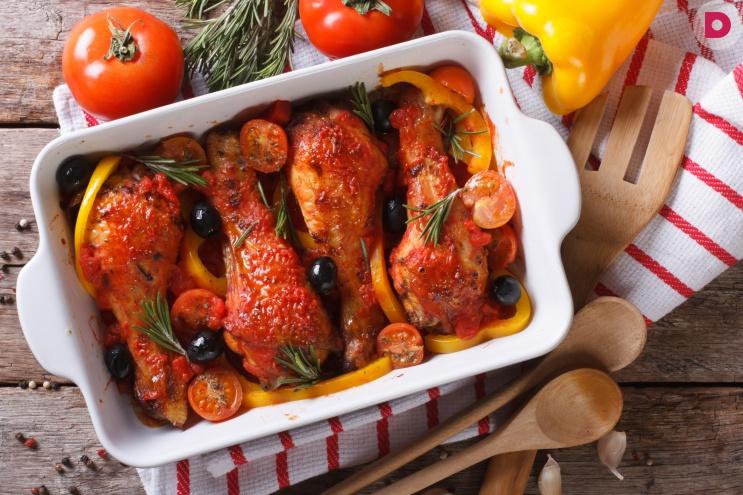 Курица в томатно-мятном маринаде