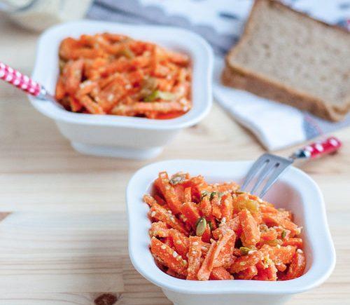 Морковный салат с тахиной