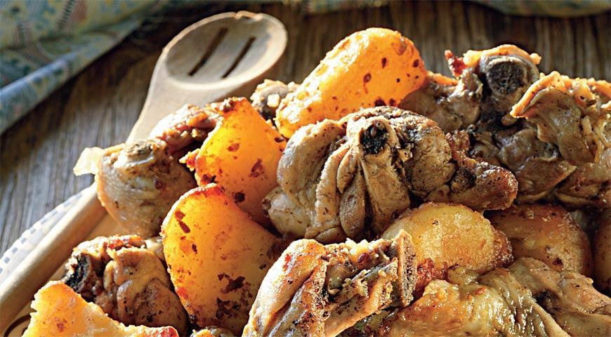 Казан-кабоб с курицей