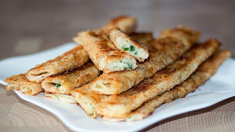 Закуска «Сырные палочки» за 10 минут