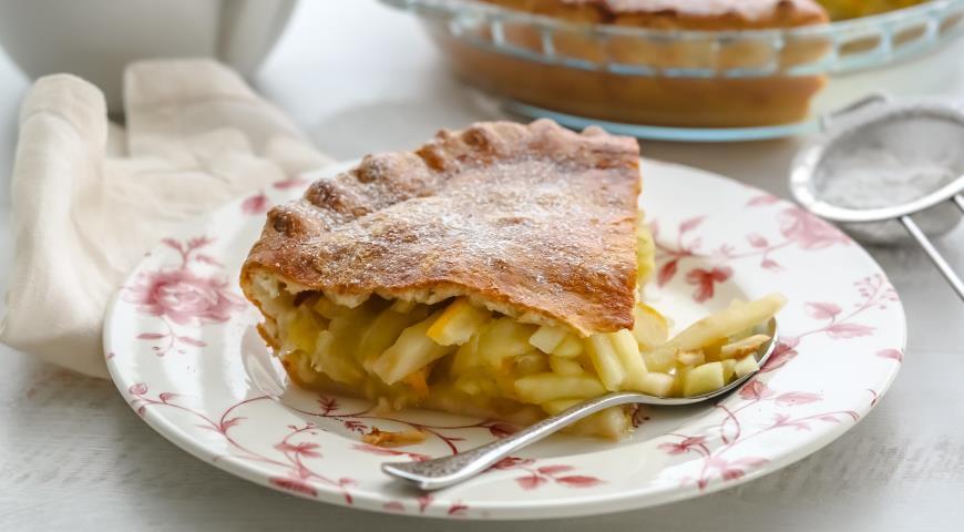 Яблочный пирог с лимонами