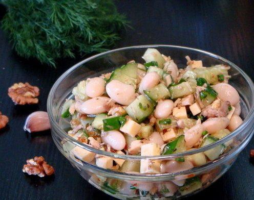 Салат с фасолью «Первомай»